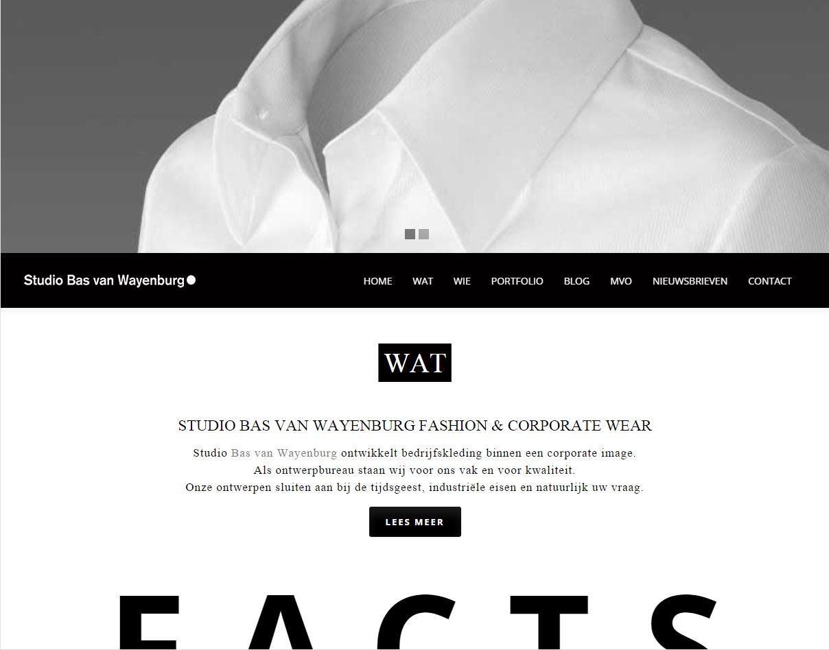 Website – Studio Bas van Wayenburg – Fashion & Corporate fashion