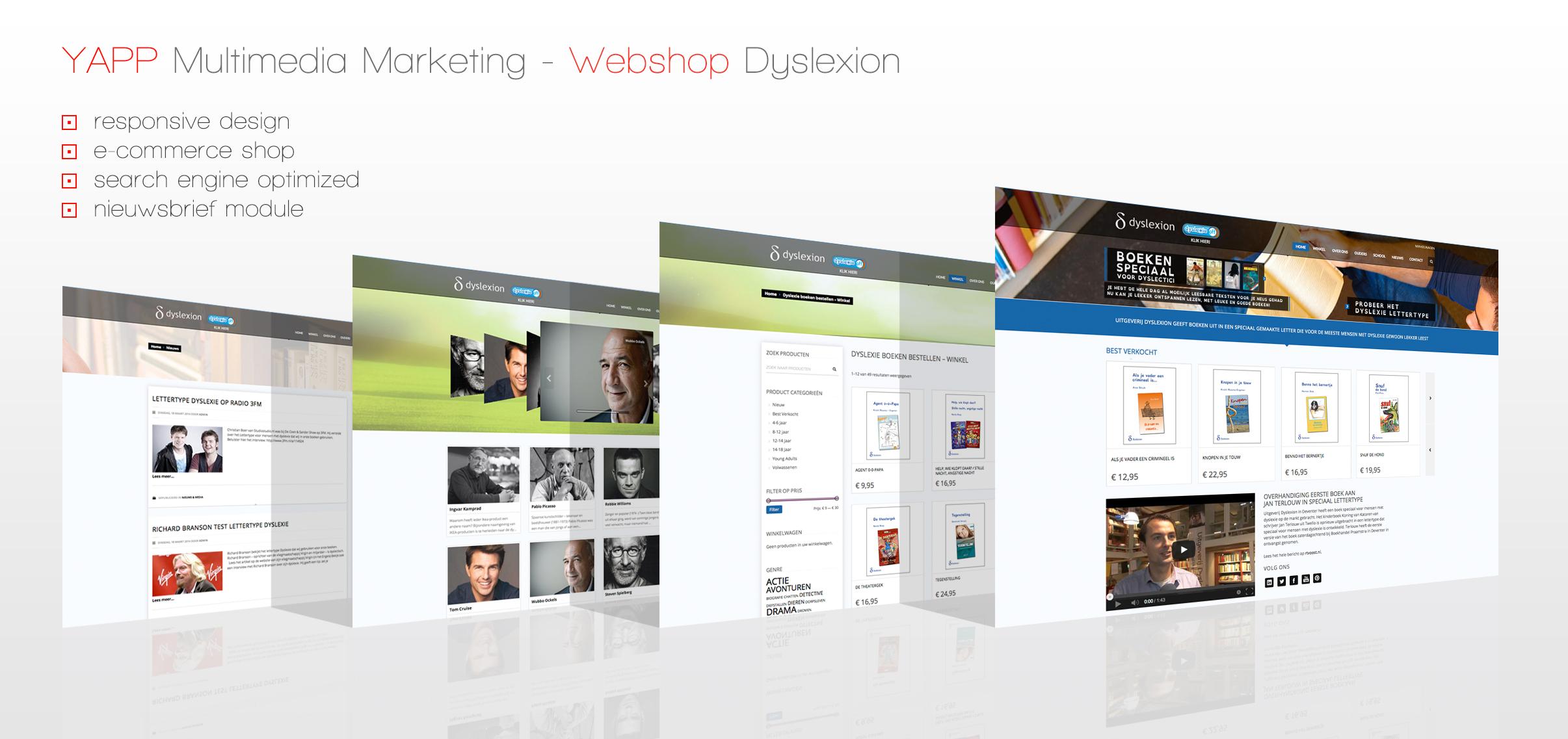 Webshop – Uitgeverij Dyslexion – Ontwerp en realisatie