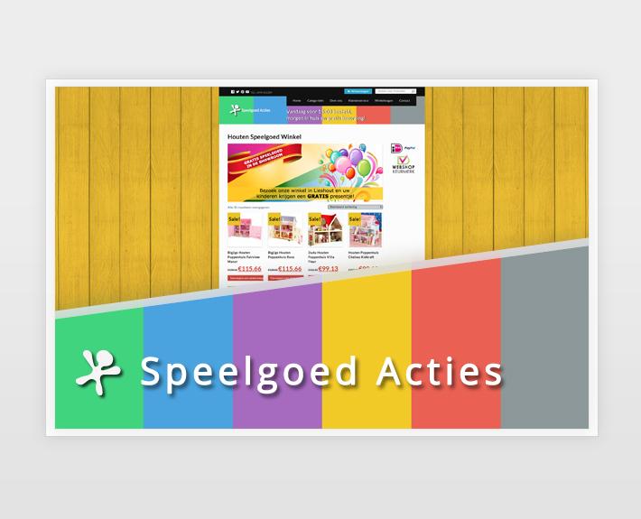 Webshop – Speelgoed Acties – Ontwerp en realisatie