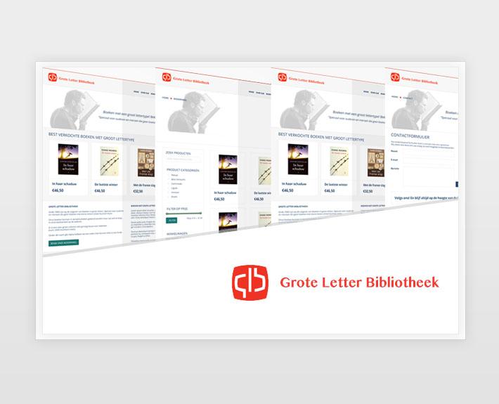 Design – Grote Letter Bibliotheek – Mockup Webshop